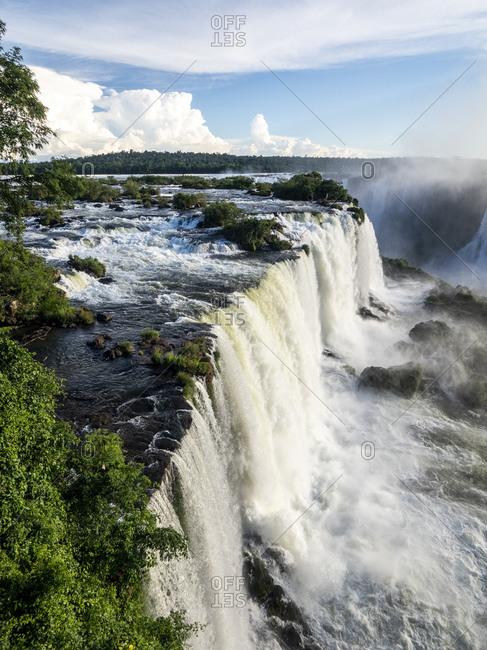 View of Iguacu Falls (Cataratas do Iguacu), UNESCO World Heritage Site, from the Brazilian side, Parana, Brazil, South America