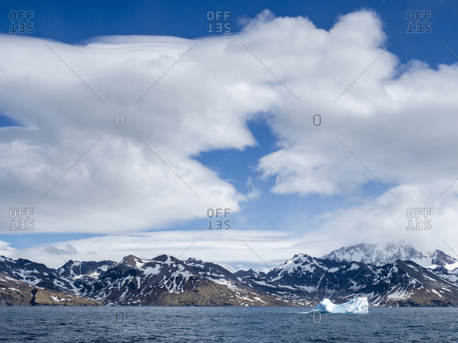 Large iceberg in the entrance of St. Andrews Bay, South Georgia, Polar Regions