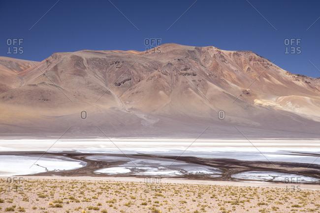 Laguna Tara, Los Flamencos National Reserve, San Pedro de Atacama, Antofagasta Region, Chile, South America