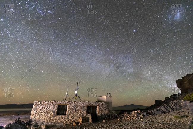 Milky Way over Salar de Tara y Aguas Calientes I, Los Flamencos National Reserve, Antofagasta Region, Chile, South America