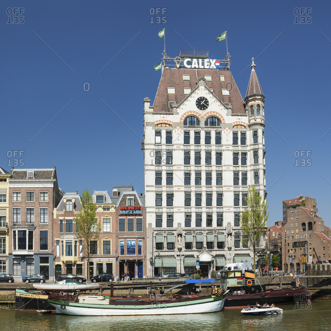 April 22, 2019: Witte Huis building at Oudehaven port, Rotterdam, South Holland, Netherlands, Europe