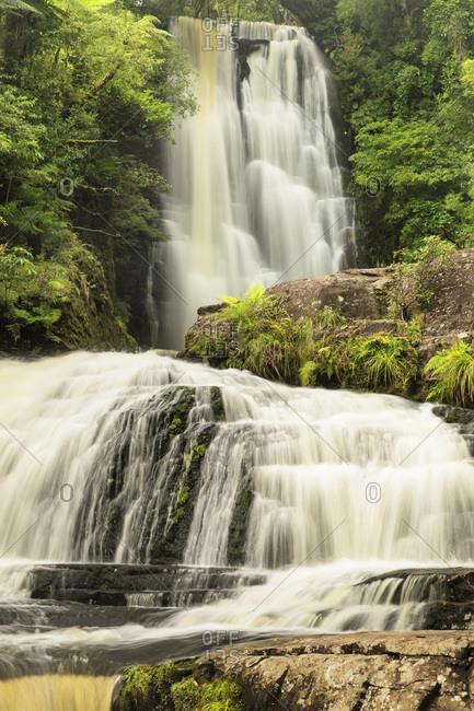McLean Falls, McLean Falls Walk, The Catlins, Otago, South Island, New Zealand, Pacific