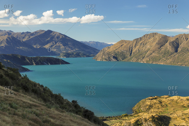 Lake Wanaka from Roy's Peak Track, Mount-Aspiring National Park, UNESCO World Heritage Natural Site, Otago, South Island, New Zealand, Pacific