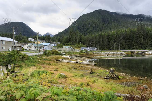 Klemtu, First Nations Kitasoo Xai Xais community, Swindle Island, Great Bear Rainforest, British Columbia, Canada, North America