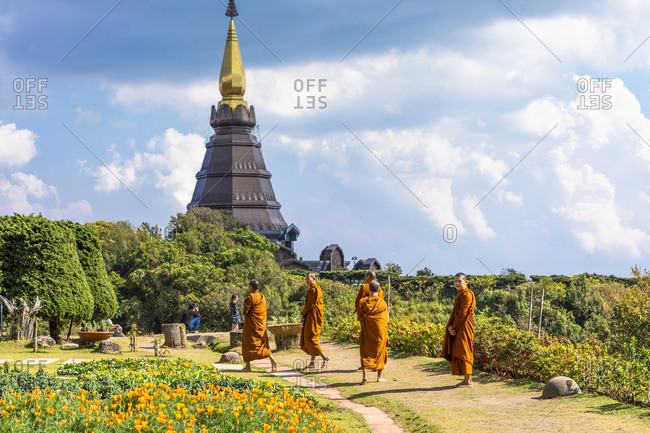 February 24, 2018: Doi Inthanon National Park, Chiang Mai, Northern Thailand, Thailand, Southeast Asia, Asia