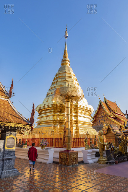 February 25, 2018: Wat Phra That Doi Suthep, Chiang Mai, Thailand, Southeast Asia, Asia