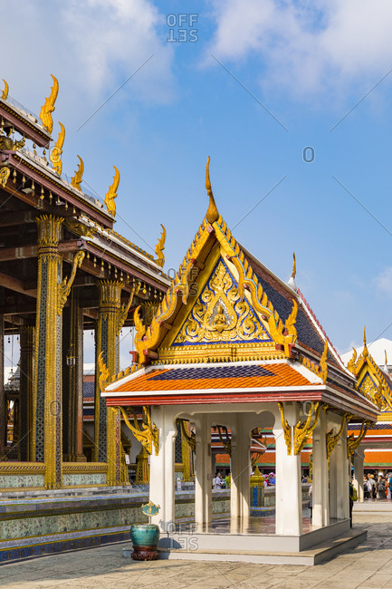 March 7, 2018: Wat Phra Kaew, The Grand Palace, Bangkok, Thailand, Southeast Asia, Asia