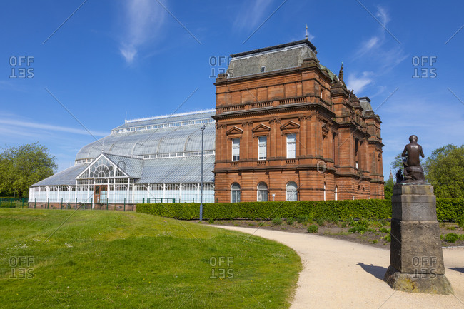 May 30, 2020: People's Palace and statue, Glasgow Green, Scotland, United Kingdom, Europe