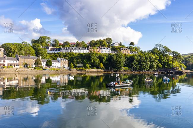Portree Harbor, Isle of Skye, Inner Hebrides, Highlands and Islands, Scotland, United Kingdom, Europe