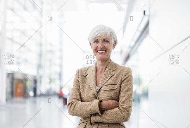 Portrait of smiling senior businesswoman
