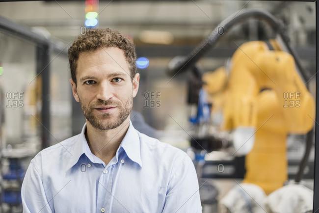 Businessman working in high tech company- portrait