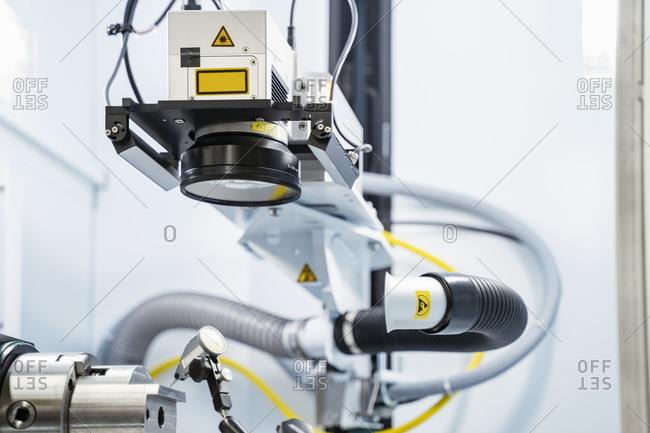 Laser marking system inside modern factory- Stuttgart- Germany