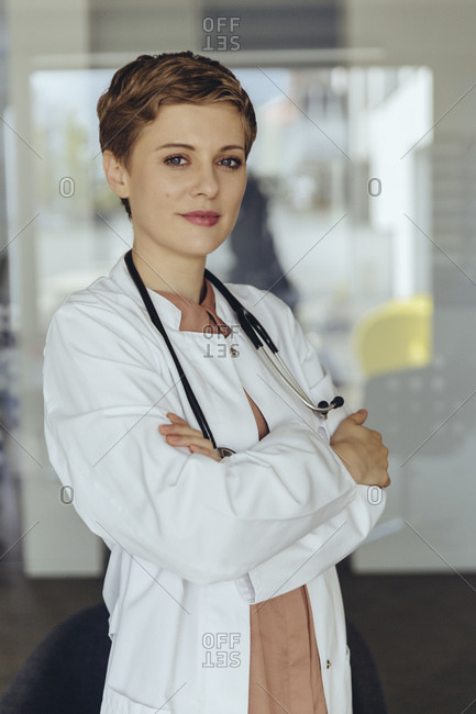 Portrait of a confident female doctor- with arms crossed