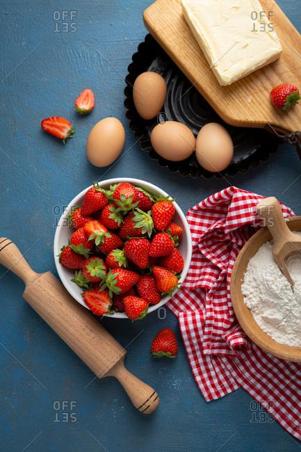 Summer berries tart ingredients