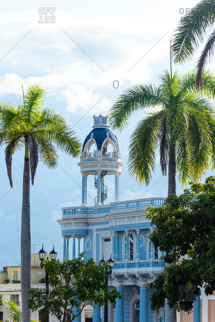 August 28, 2019: House of culture colonial mansion.  Cienfuegos, Cuba
