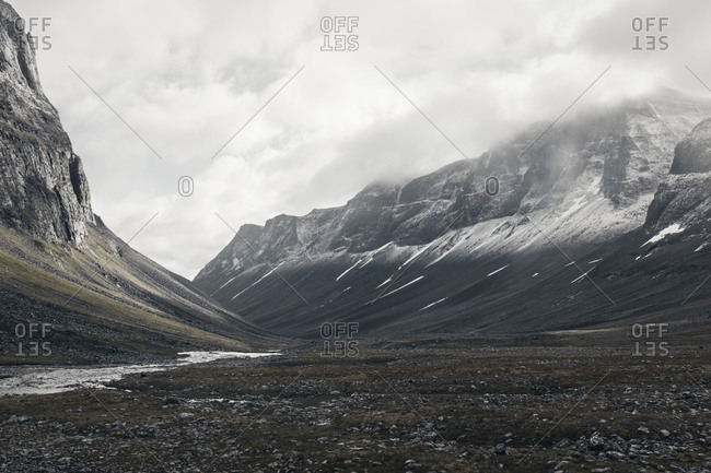 View of mountains covered by snow