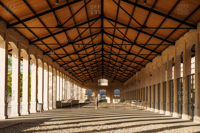 Old train parking lot restored into a tourist attraction in Valencia