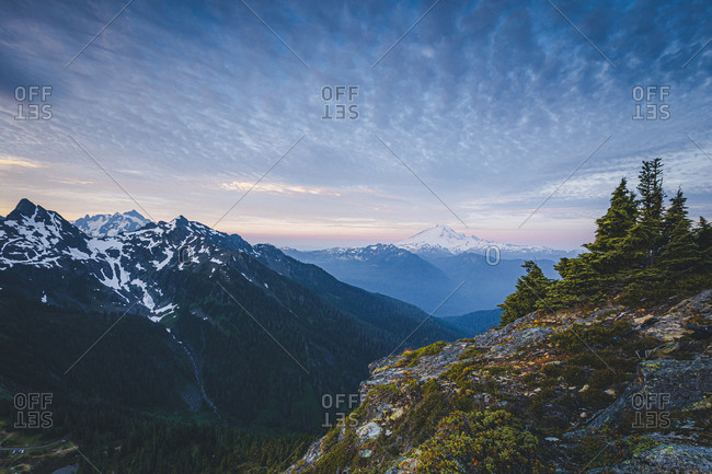 Beautiful Mt. Baker from the top of Winchester mountain, USA