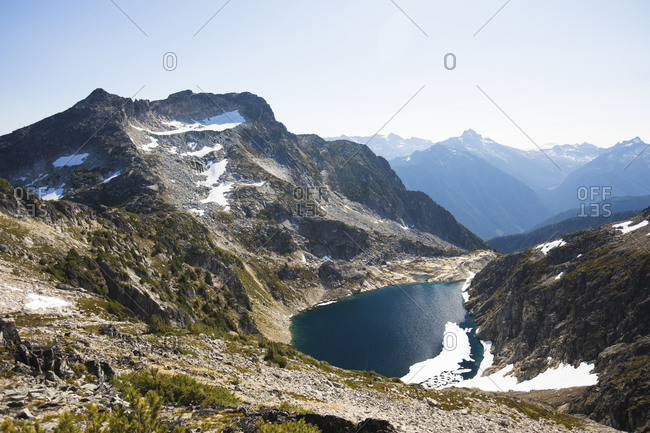 Mount Lindeman and Upper Hanging Lake, North Cascade Mountain Range.