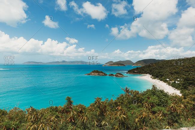 Trunk Bay St John USVI lush Caribbean View