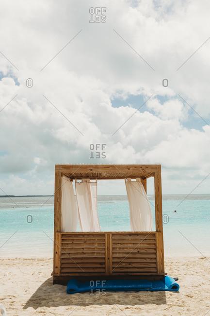 Cabana on the Caribbean beach