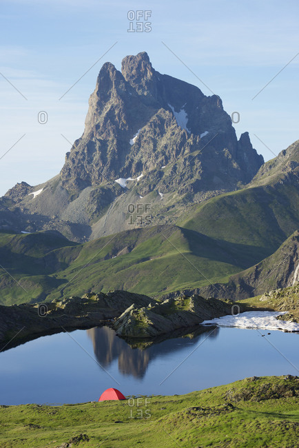 Midi D`Ossau Peak in Ossau Valley, Pyrenees in France.