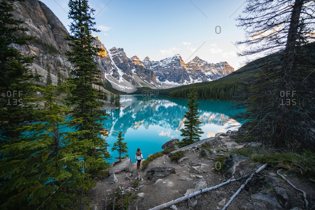 Hiking Into a Picture Perfect Canadian Rockies Postcard Scenery