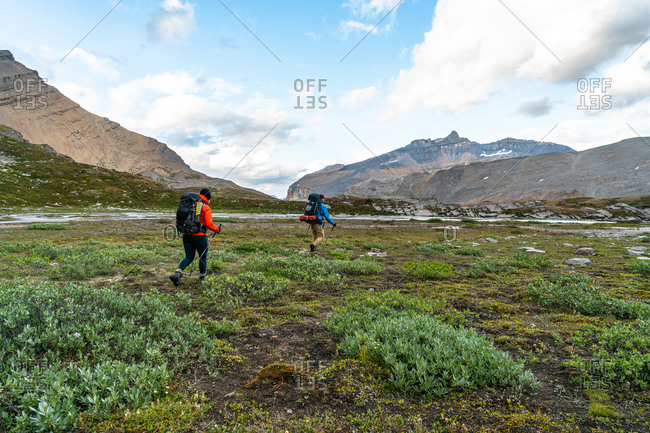 Couple Hiking into Remote Michelle Lakes in Clearwater County