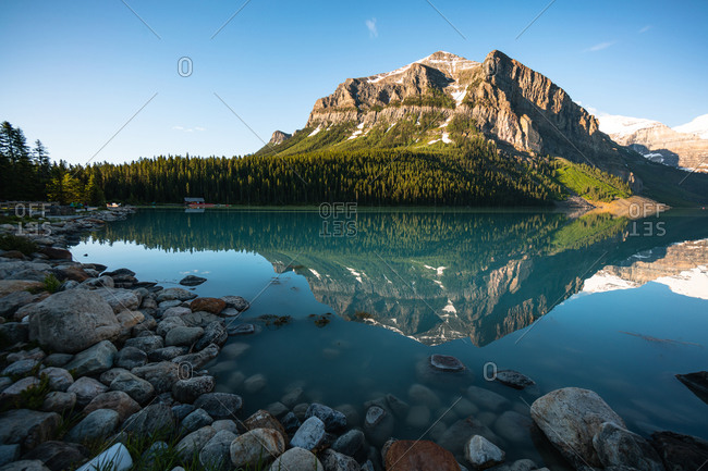 Reflections of Fairview Mountain From Lake Louise