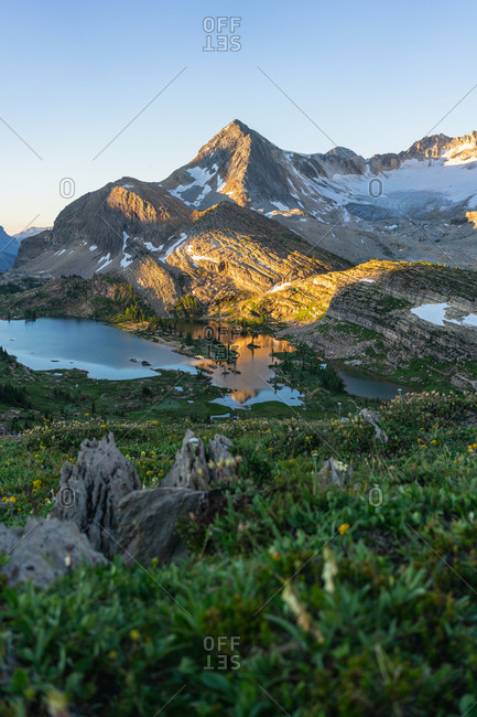 Mourning Light Glow at Limestone Lakes Height of the Rockies
