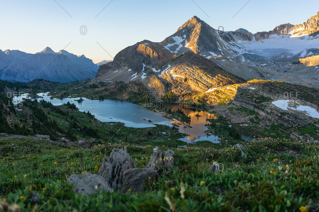 Sunrise at Limestone Lakes Height of the Rockies Provincial Park