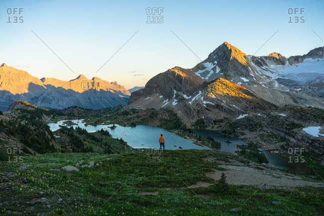 Watching Sunrise from Above Limestone Lakes