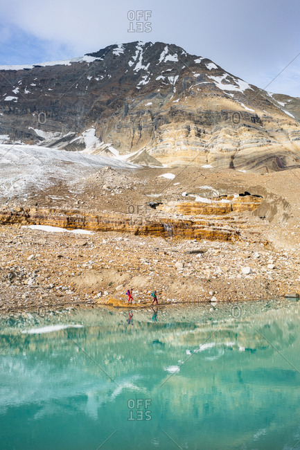 Reflections in Glacial Lake Along Iceline Trail in Yoho National Park