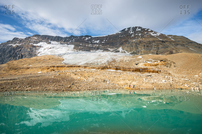Mountain Reflections in Stunning Alpine Lake Along Iceline Trail
