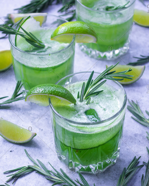 Refreshing summer cucumber and lime drink