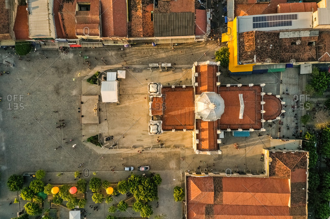 September 30, 2019: Aerial view Shrine Parish of St. Francis of Chagas, Ceara in Brazil.