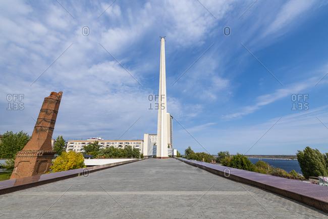 October 4, 2019: Russia- Volgograd Oblast- Volgograd- State Historical and Memorial Preserve Battle of Stalingrad