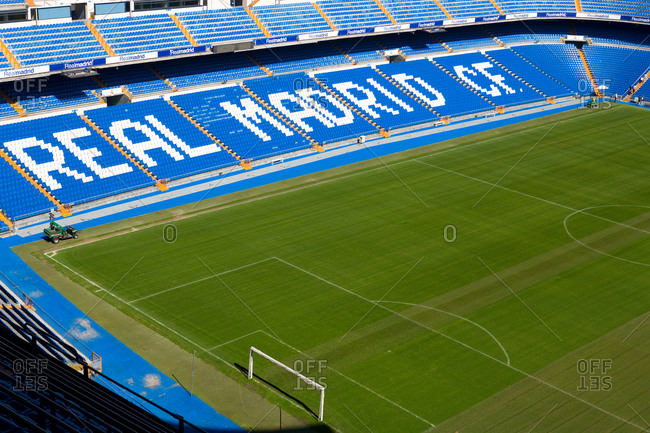 November 9, 2020: Santiago Bernabeu Stadium of Real Madrid in Madrid, Spain.