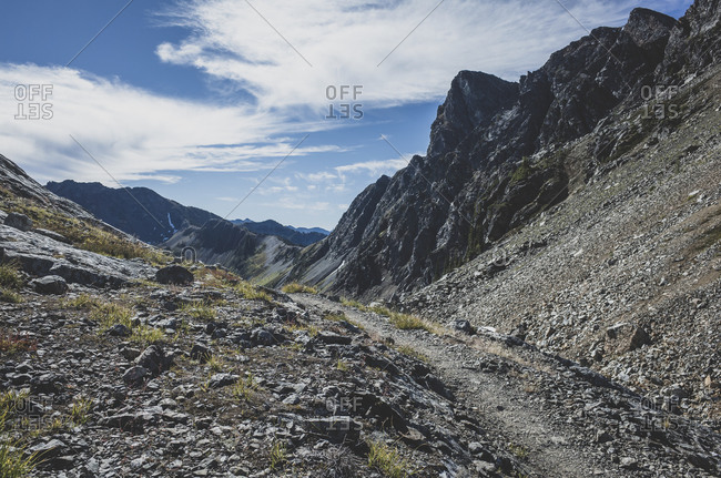 View of remote section of the Pacific Crest Trail