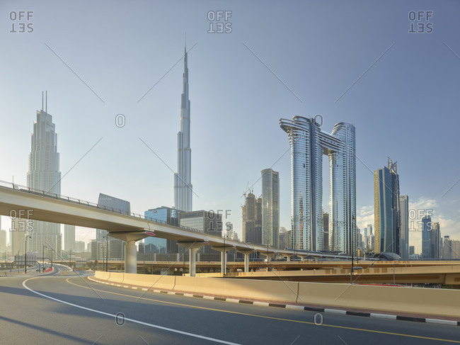 January 21, 2020: Burj Khalifa, Address Sky View Hotel, Dubai, United Arab Emirates