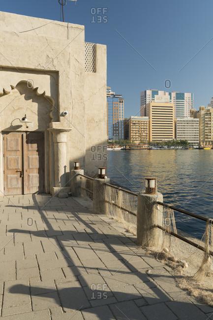 January 22, 2020: Al Seef District, Dubai Creek, Dubai, United Arab Emirates