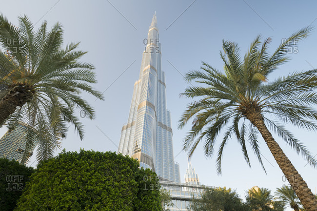 January 22, 2020: Downtown Dubai, Burj Khalifa, Dubai, United Arab Emirates