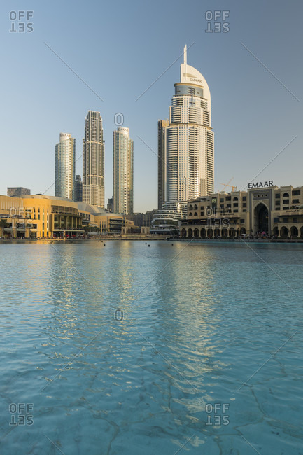 January 22, 2020: The Address, Downtown Dubai, Burj Lake, Dubai, United Arab Emirates