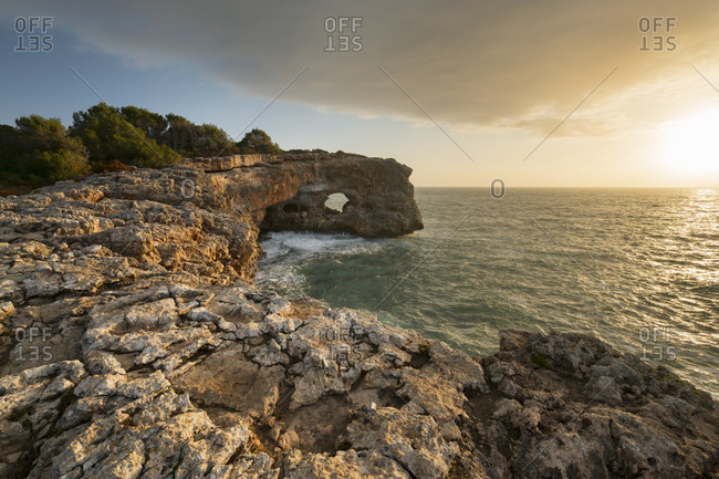 Es Puntas rock hole, Mallorca, Balearic Islands, Spain