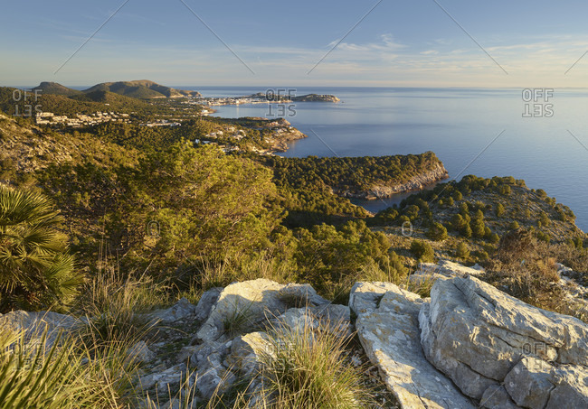 View from Cap Vermell to the north, Mallorca, Balearic Islands, Spain