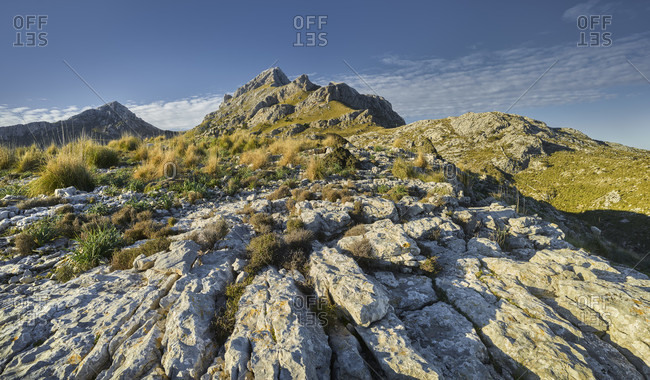Puig Major vom Coll dels Reis, Serra de Tramuntana, Mallorca, Balearic Islands, Spain