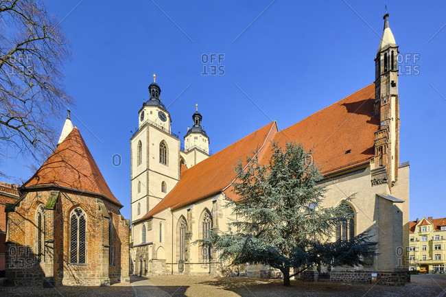 Corpus Christi Chapel and Stadtkirche St. Marien in Wittenberg, Saxony-Anhalt, Germany