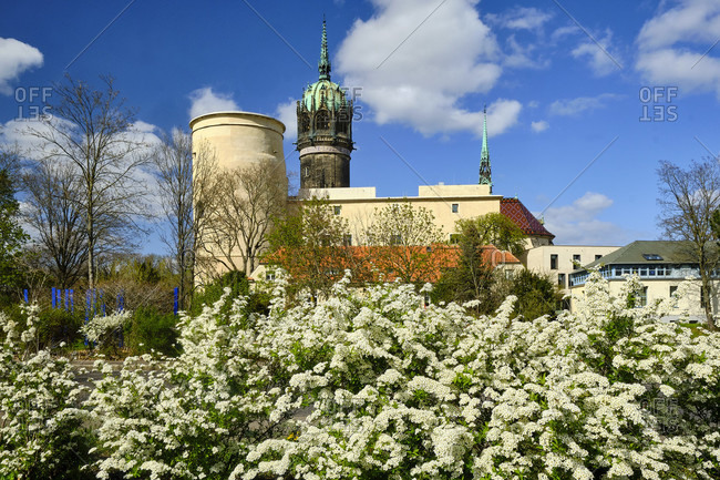Castle and castle church in Wittenberg, Saxony-Anhalt, Germany