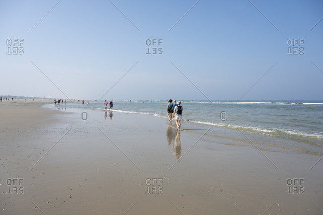 Germany, Lower Saxony, East Frisia, Juist, beach walk.