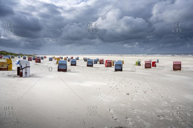 Germany, Lower Saxony, East Frisia, Juist, beach chairs